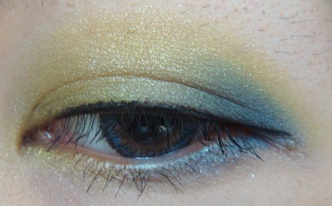 NARS 雙色眼影 Rated R 及 Iceland 黃藍色真眼試妝 - 小住住 - 住住美妝瘦身分享 (網易版)
