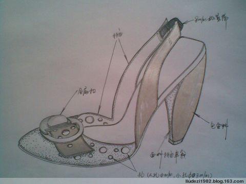 女鞋设计之 叠加ss09 手稿