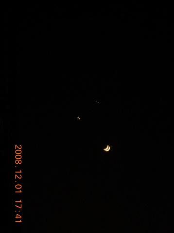 """2008年12月2日 美妙的""""双星拱月""""天象 - 几何图形的世界 - 几何图形的世界"""