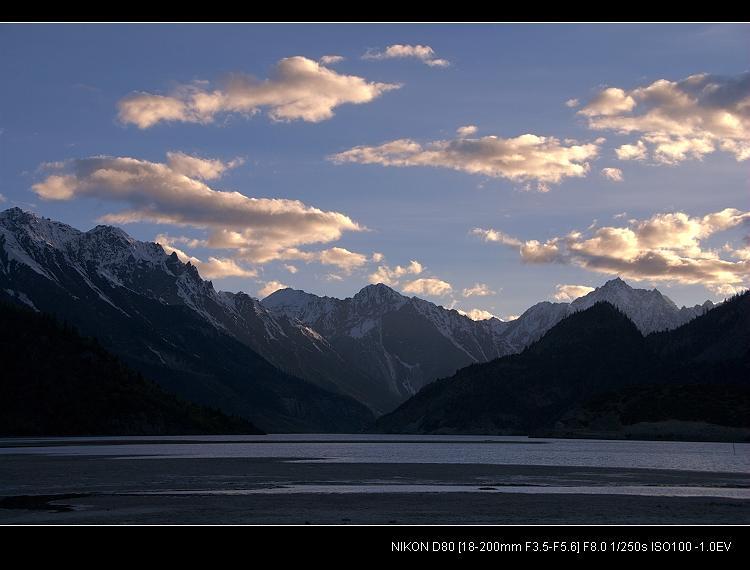 追梦阿里____然乌湖的黄昏 - 西樱 - 走马观景