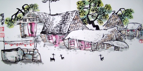 [原创国画]乡村记忆系列(三十六)画家罗伟2008/05/05_书画家罗伟的BLOG_新浪博客 - 书画家罗伟 - 书画家罗伟的博客