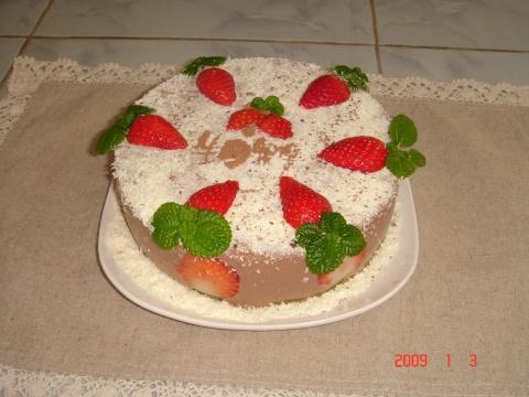 袋鼠外公的生日蛋糕----巧克力慕斯 - ruoling2001 - 家有读书女--袋鼠