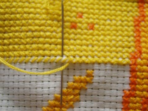 绣大块颜色的好方法 - moon月儿 - 月月的小屋