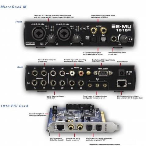 创新3款E-MU系列专业声卡 - 好歹不坏 - 数字音频
