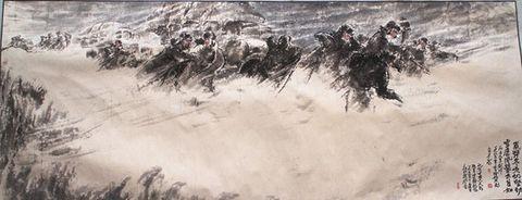 《岁弊寒凶.雪虐风餐——唐古拉山战风雪》 - 於菟牧者 - 卓然書畫資料庫