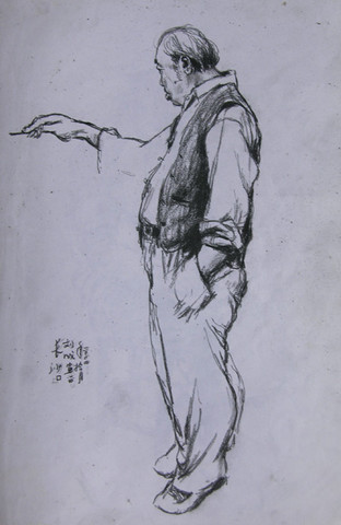 速写展展览   刘成个人速写展在湖南师大美术学院学府美术馆高清图片