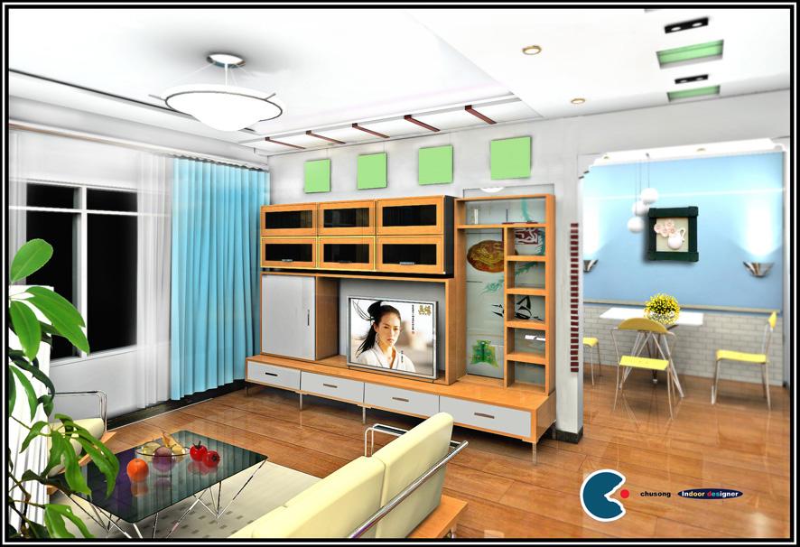 室内明线安装效果图