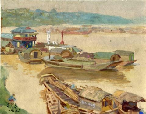 张以玉老师五六十年代画的水彩 - 水木白艺术坊 - 贵阳 画室 高考美术培训