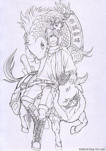 恭贺新禧(未上色) - N.s 24小王子 -