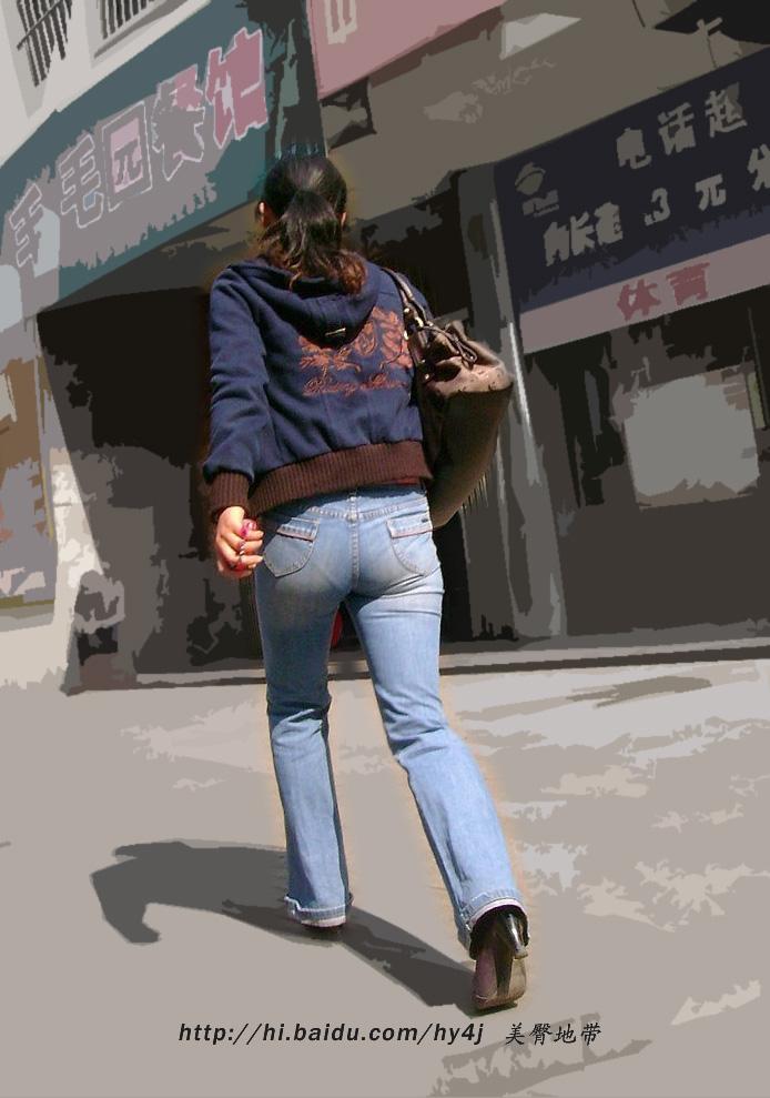 走路很急的牛仔美臀少妇 - 源源 - djun.007 的博客