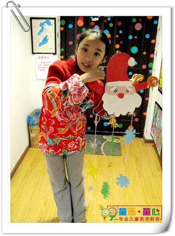 童画童心08秋季高级班美术活动16——圣诞树挂件 - 童画-童心儿童美术 - 童画-童心儿童美术